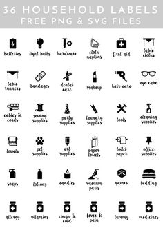 Make your own unique labels for everything In your home with these 36 FREE household label cut files for e-cutter machines! Vinyl Labels, Printable Labels, Printable Recipe, Free Printables, Silhouette Machine, Silhouette Cameo, Pantry Labels, Canning Labels, Canning Recipes