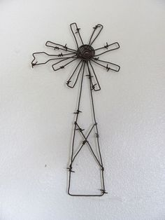 barbed wire windmill