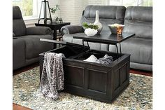 Rubbed Black Gavelston Coffee Table View 3