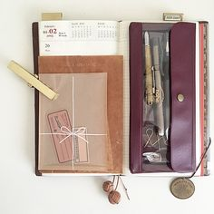 PLANNER - Planning for the week ahead is fun when it is done with beautiful, practical stationery.  Midori Travelers Notebook