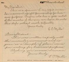 Vertical and Slanted Cursive Handwriting, The Penman's Art Journal, November 1896