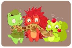 happy tree friends: Flippy, Flaky and Nutty Happy Tree Friends Flippy, Htf Anime, Friend Anime, Free Friends, Anime Version, Furry Drawing, Adult Cartoons, Art Series, Retro Aesthetic