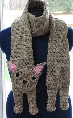 Made to Order Crochet Chihuahua Scarf by DonnasCrochetDesigns
