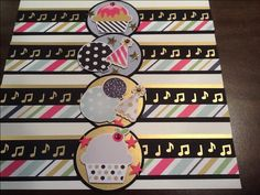 Created by Bev DeBono Birthday Scrapbook Layouts, Scrapbook Borders, Scrapbooking Layouts, Scrapbook Pages, Music Border, Soiree Party, Border Ideas, Borders For Paper, Creative Memories