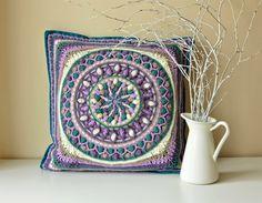 Large Crochet Squares or Second Life of Dandelion Mandala - LillaBjörn's Crochet World