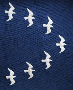 sea gulls quilt from Janet Clare's book Hearty Good wishes
