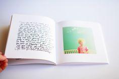 handwriting + instagram photos in blurb book