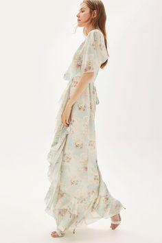 **Maxi robe à fleurs aux tons doux - Bridesmaid Dresses - Vêtements - Topshop