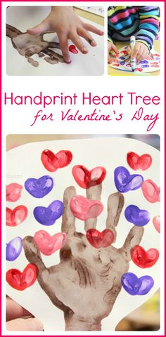Valentine Handprint Craft - The Heart Tree!