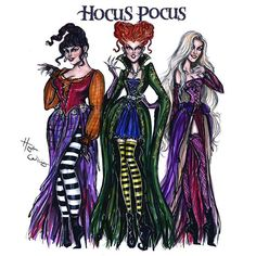 Ilustration by @hayden_williams - The Sanderson Sisters! #HocusPocus