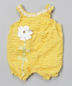 Loving this Yellow Flower Romper - Infant on #zulily! #zulilyfinds by Nannete Baby