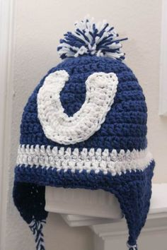 ... crochet indianapolis colts inspired hat colts indianapolis colts