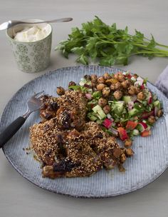 Granaattiomenasiirappisiivet - Haarukkavatkain-blogi Kung Pao Chicken, Ethnic Recipes, Food, Meal, Essen, Hoods, Meals, Eten