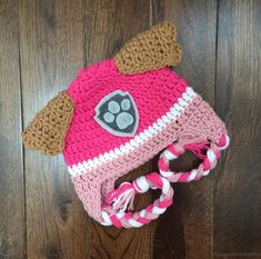 This listing is for a Paw Patrol Skye crochet hat PATTERN. This is not a finished product. If you are interested in a completed hat it is available in my shop. Please use this link: https://www.etsy.com/ca/listing/266221277/skye-paw-patrol-crochet-character-hats  Sizes: 0-3 months 3-6