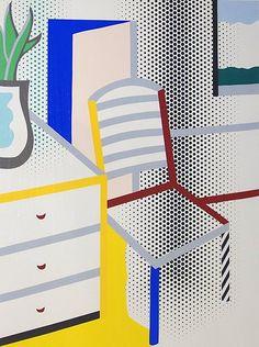 Roy Lichtenstein, Interior with Chair, 1996 : Lot 3