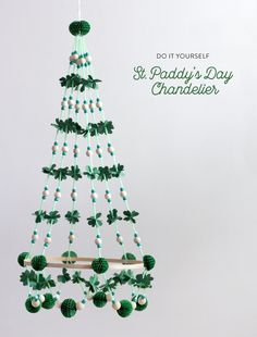 A Pajaki inspired St. Patrick's Day chandelier! Why not? Melting pot,  right? This one is for all my Polish-Irish friends!
