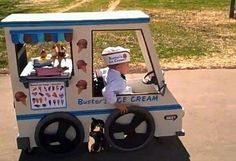 SO AWESOME!!  His parents built his Halloween costume around his wheelchair. How fun for all of them!