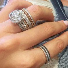 Gabriel Jewelry, White Gold Rings, Artisan Jewelry, Jewelry Stores, Bridal Jewelry, Fine Jewelry, Jewellery, Wedding Bands, Jewelry Design