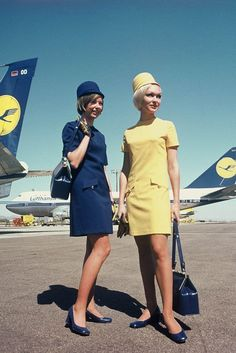 Lufthansa flight attendants....I could never be that skinny! #aviationglamourairports