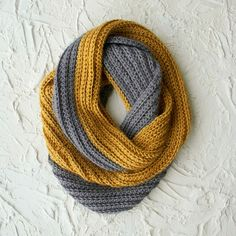 Bufanda de dos colores