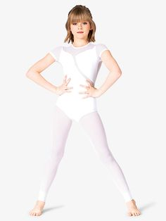 Girls Crazy Chick Pink Leotard Comfy Stretch Full Sleeves Kids Dance Party Top