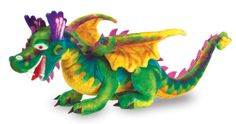 Mommy Market - Melissa and Doug plush dragon - If your little one has a vivid imagination then today's featured item from Florida may be just what you are looking for! This huge plush dragon toy is cuddly and whimsical and will delight your little one! Dragon Pet, Baby Dragon, Giant Stuffed Animals, Dinosaur Stuffed Animal, Stuffed Toys, Pet Toys, Kids Toys, Giant Plush, Drawing Expressions