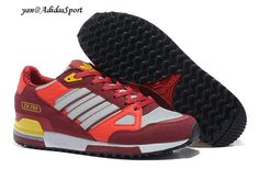 size 40 d5dfd 7d665 Hombres Zapatillas de Running Adidas Originals ZX 750 Atardecer  Rojo Burdeos Blanco Amarillo Online Outlet. renenobleki · SHOES