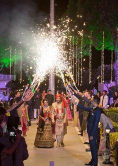 Jag Mandir Garden Palace Wedding {Udaipur} - sparkler and firework wedding ceremony exit Indian Wedding Theme, Desi Wedding Decor, Indian Wedding Photos, Wedding Stage Decorations, Wedding Mandap, Indian Weddings, Indian Wedding Receptions, Indian Bridal, Indian Engagement Photos