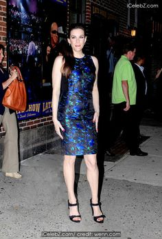 Liv Tyler  visits the Late Show with David Letterman in NYC http://icelebz.com/events/liv_tyler_visits_the_late_show_with_david_letterman_in_nyc/photo1.html