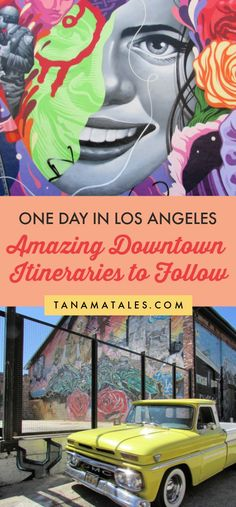 Do you have a day in LA? No problem! I have prepared for you 4 amazing itineraries higlighting all the cool things to do and see in Downtown Los Angeles. Usa Travel Guide, Travel Guides, Travel Usa, Travel Tips, Solo Travel, Canada Travel, Budget Travel, Travel Photos, Downtown Los Angeles