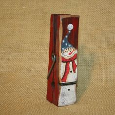 Snowman Large Wood Clothes Pin Christmas Winter Ornament | eBay