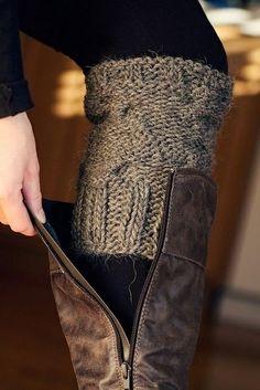 Knit Boot Cuffs Pattern.....@Connie Hamon Hamon Mccartneyi Need U To Teach Me How To Crochet Soon So I Can Do This Super Cute