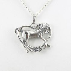 Sterling Silver Arabian Horse Necklace by by DonnaPizarroDesigns