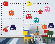 This Packman Decal set are suitable for decorate the Kid room and any else as your imagination  Packman Decal available in following size **  MEDIUM Size
