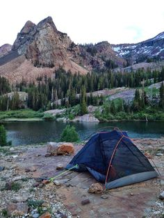 Camping Lake Blanche Trail. Wasatch National Forest, Utah.