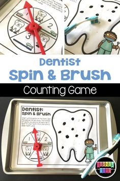 Dentist Spin and Brush Math Game – wanderlust Community Workers, School Community, Will Turner, Dentist Games, Community Helpers Activities, Preschool Activities, Health Activities, Space Activities, Family Activities