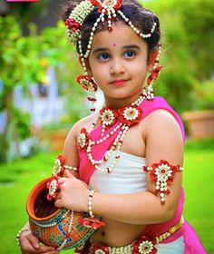 Flower Jewellery by Pelli Poola Jada Cute Baby Girl, Cute Girls, Kids Blouse Designs, Fancy Dress For Kids, Flower Ornaments, Princesas Disney, Flower Dresses, Indian Bridal, Making Ideas