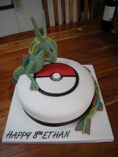 Rayquazar pokemon cake by Rachel's Cakes, via Flickr