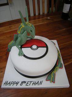 Rayquazar pokemon cake by Rachel's Cakes, via Flickr
