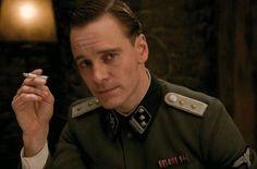 sexy soldier. Michael Fassbender :)