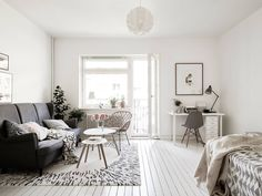 Light Scandinavian studio apartment