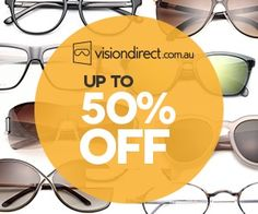 Sale - Up To 50% OFF on #visiondirect Make full use of great chance, buy variety of sunglasses, contact lenses & many more & get up to 50% off. Grab the discount from here -  http://www.aucouponcodes.com.au/visiondirect.html?utm_source=pinterest&utm_medium=marketing&utm_campaign=vision%20direct
