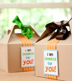 Send lil boxes to neighbors and friends to show your Thankfulness