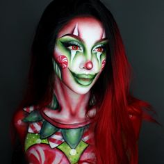 Halloween is less than a month away. It's time to consider Halloween makeup. Halloween is a great opportunity to show off your makeup during the year. On Halloween, you must a Creepy Makeup, Sfx Makeup, Airbrush Makeup, Costume Makeup, Christmas Makeup Look, Holiday Makeup, Monster Makeup, Amazing Halloween Makeup, Creative Makeup Looks