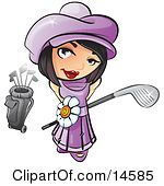 This one with a frog face???  Looking Up And Holding A Golf Club Clipart Illustration by Leo Blanchette