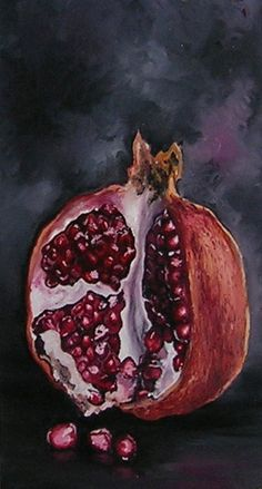 Pomer Granate Still Life Painting by annahaener on Etsy Life Drawing, Painting & Drawing, Painting Inspiration, Art Inspo, Pomegranate Art, Still Life Fruit, Art Folder, Grenade, Painting Still Life