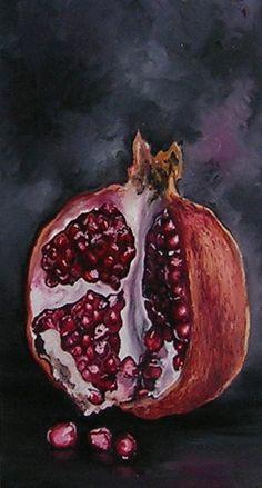 Pomer Granate Still Life Painting  Anna Haener