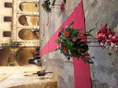 Recorrido de entrada hasta las escaleras del Palau Contal, Cocentaina.