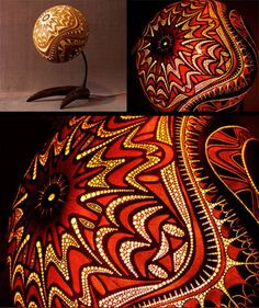 These gourd lamps are awesome. Www.dornob.com
