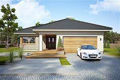 Miriam V - Dobre Domy Flak & Abramowicz Two Story House Design, Two Story Homes, Dream House Exterior, Village Houses, Terrace, House Plans, Sweet Home, Shed, Outdoor Structures